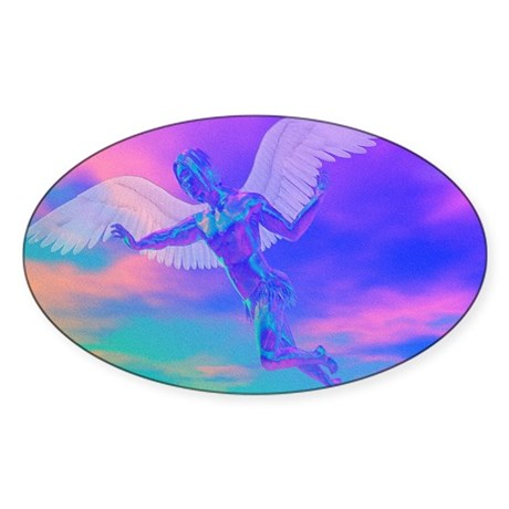 Angel of Light Oval Sticker