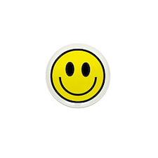 Classic Yellow Smiley Face Mini Button