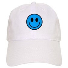Classic Blue Smiley Face Cap