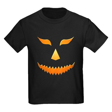 Scary Pumpkin Kids Dark T-Shirt