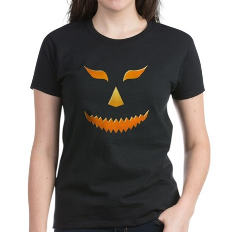 Scary Pumpkin Women's Dark T-Shirt
