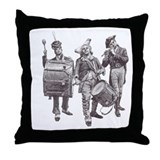 Cute Bang your drum Throw Pillow