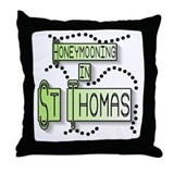 Honeymoon St. Thomas Throw Pillow