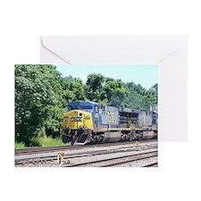 CSX Q190 Doublestack Train Greeting Card