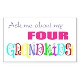 Four Grandkids Rectangle Bumper Stickers