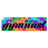 Gymnast Bumper Car Sticker