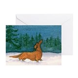 Longhaired Dachshund Christmas Cards (20)