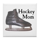 Hockey Mom Vintage Tile Coaster