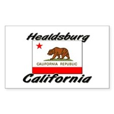 Healdsburg California Rectangle Decal