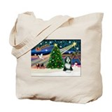 Xmas Magic &amp; Beardie Tote Bag