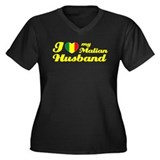 I love my Malian Husband Women's Plus Size V-Neck