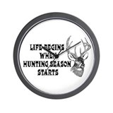 Hunting Season Wall Clock