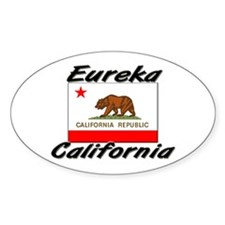 Eureka California Oval Decal