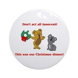 Koala Bear Christmas Ornament (Round)