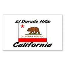 El Dorado Hills California Rectangle Decal