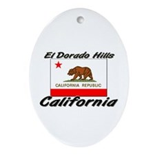 El Dorado Hills California Oval Ornament