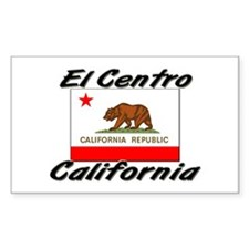 El Centro California Rectangle Decal