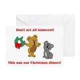 Koala Bear Christmas Greeting Card