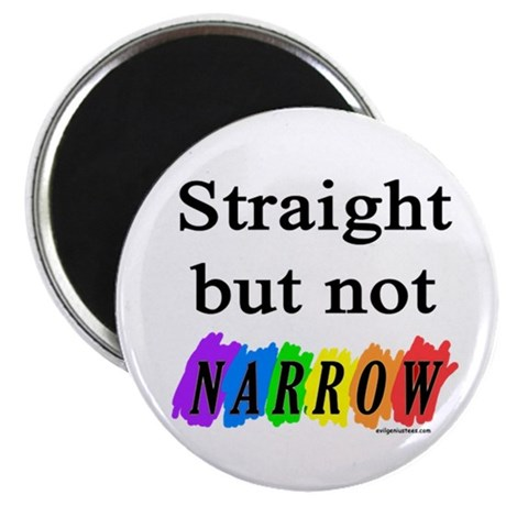 Straight but not narrow rainb Magnet