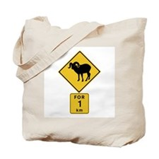 Crossing Mountain Goats For 1 km, Canada Tote Bag
