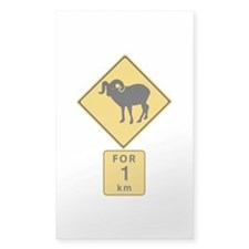 Crossing Mountain Goats For 1 km, Canada Decal