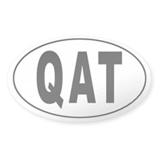 QATAR Oval Decal