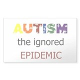 The ignored epidemic Rectangle Decal
