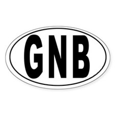 GUINEA-BISSAU Oval Decal