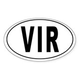 VIRGIN ISLANDS (U.S.) Oval Decal