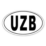 UZBEKISTAN Oval Decal