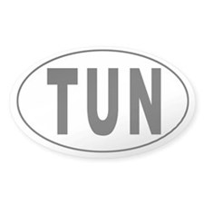 TUNISIA Oval Decal