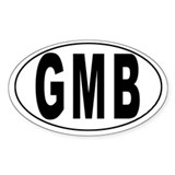 GAMBIA Oval Decal
