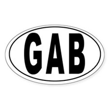 GABON Oval Decal