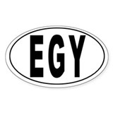 EGYPT Oval Decal