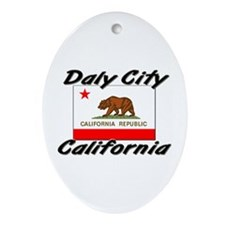 Daly City California Oval Ornament