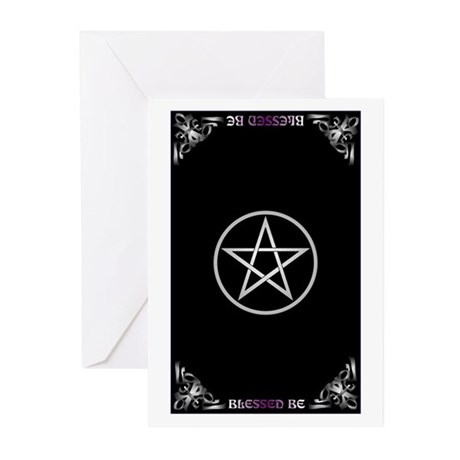 Blessed Be Pentacle Greeting Cards (Pk of 10)
