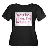 kid did it pink Women's Plus Size Scoop Neck Dark