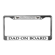 Australian Shepherd Dad License Plate Frame