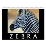 Zebra Wall Calendar