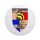 USS Courtney (DE 1021) Ornament (Round)