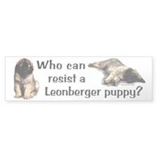 """Who Can Resist?"" Bumper Car Sticker"