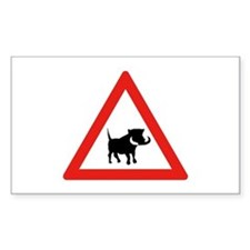 Beware of Warthogs, South Africa Decal