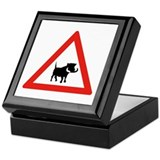 Beware of Warthogs, South Africa Keepsake Box