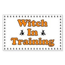 Witch in Training Rectangle Decal