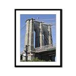 Brooklyn Bridge at Old Fulton Framed Panel Print