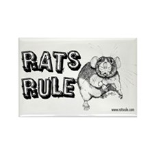 Rats Rule Dumbo Rectangle Magnet