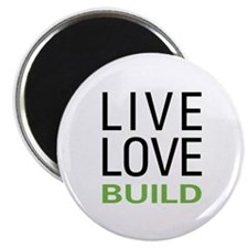 "Live Love Build 2.25"" Magnet (10 pack)"