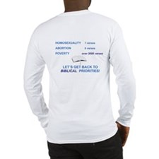 Long Sleeve T-Shirt: Back to Biblical Priorities