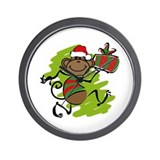 Santa Monkey Wall Clock