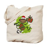 Santa Monkey Tote Bag